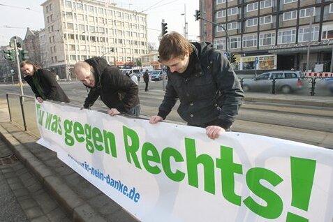 Einige Chemnitzer setzten am 5. März ein Zeichen gegen Rechts.