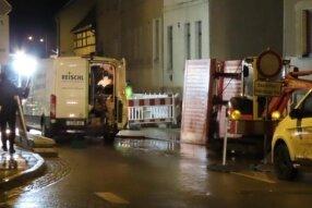 In den frühen Morgenstunden brach in Leubnitz eine Hauptversorgungsleitung.