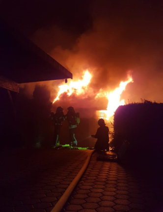 In der Nacht auf den Freitag hat in Chemnitz ein Schuppen gebrannt.
