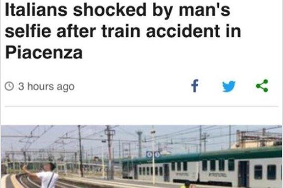Mann macht in Italien Selfie mit Unfallopfer