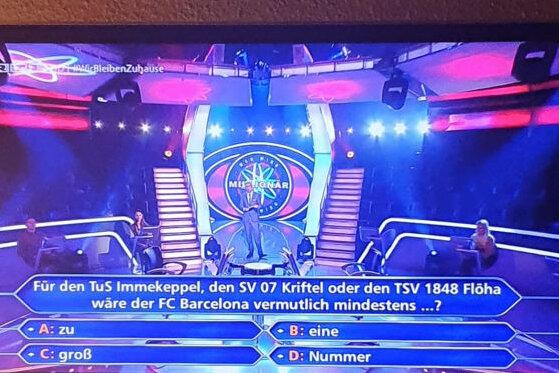 """TSV Flöha wird dank """"Wer wird Millionär"""" bundesweit bekannt"""