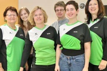 Sind in der 2. Schach-Bundesliga für Niederwiesa am Brett: Martina Nobis, Anna Nobis, Ulrike Kindt, Steffi Arnhold, Kerstin Arnhold und Sabine Schiffer (v. l.)