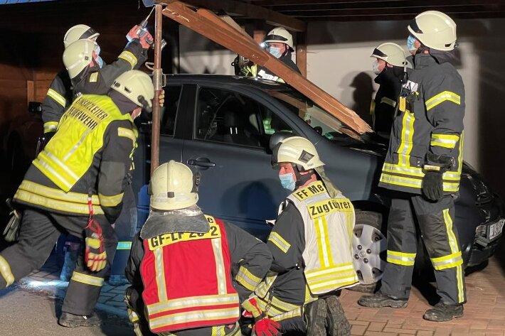 Fahrerloses Auto verursacht Unfall in Schönberg
