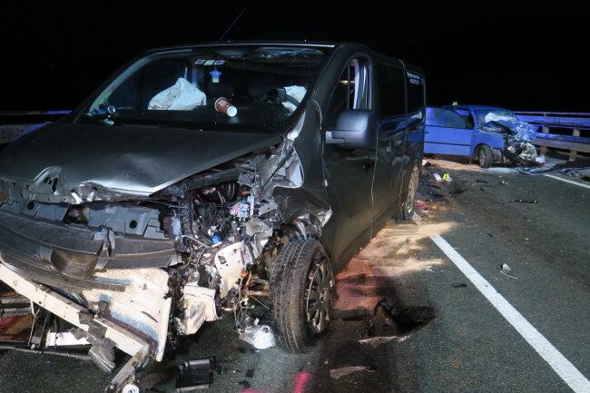 Bei dem Unfall auf der S 255 wurden am Freitagmorgen sieben Personen verletzt.