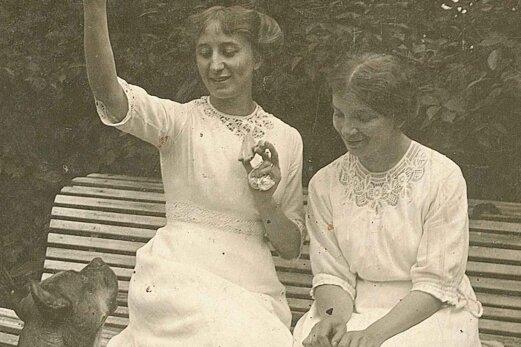 Die beiden Unternehmerinnen auf einem Foto von 1918.