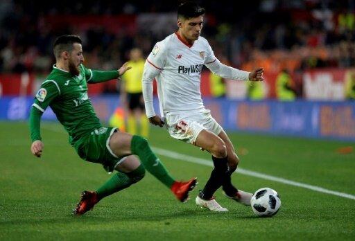 Correa (r.) brachte Sevilla in Führung