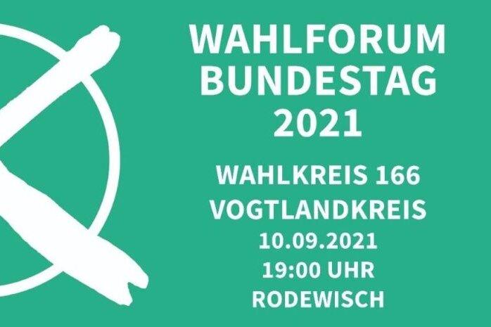 Livestream: Wahlforum mit den Kandidaten für das Vogtland