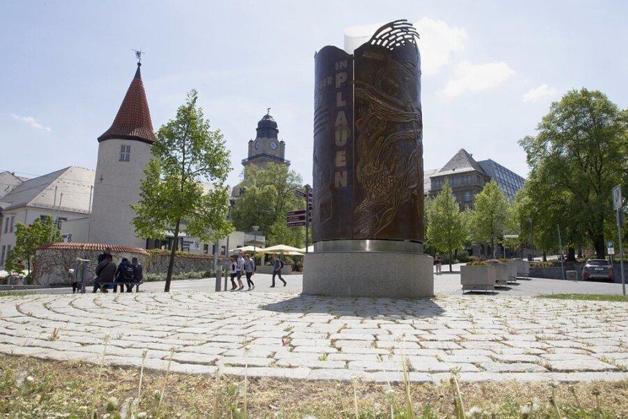 Das Plauener Wendedenkmal erinnert an die Friedliche Revolution 1989.