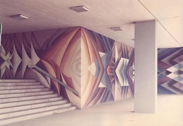 Das 250 Quadratmeter große Flächenkunstwerk im Eingangsbereich des Plauener Rathauses.