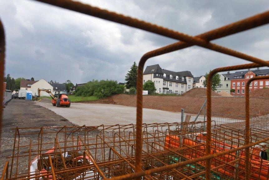 Entspannung in Sachen Kinderbetreuung in Lichtenstein in Sicht: die Baustelle der neuen Kita im Stadtteil Callnberg.