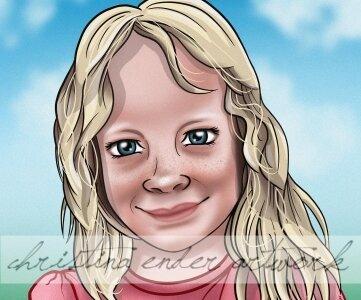 Eines der ersten Porträts, die Christina Ender gezeichnet hat.