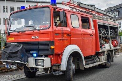 Am Freitag nahm das LF 16 TS aus Oberdorf noch an einer Übung teil. Vom Landkreis ist es ausgesondert worden.