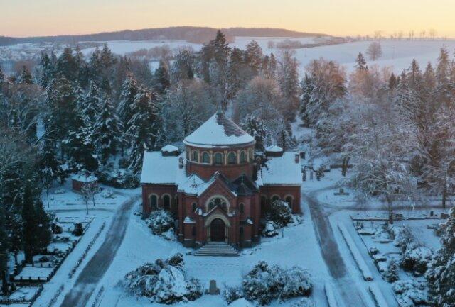Die Kapelle auf dem Werdauer Waldfriedhof im Osten der Stadt ist ein architektonisches Kleinod.
