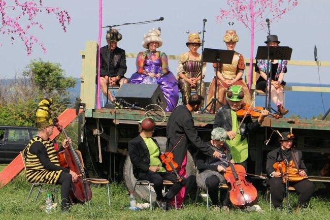 Das Waldorchester und die Wiesenstreicher haben in diesem Jahr unter freiem Himmel ihren Auftritt.