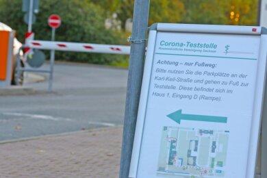 Im Heinrich-Braun-Klinikum befindet sich eine Corona-Teststelle der Kassenärztlichen Vereinigung.