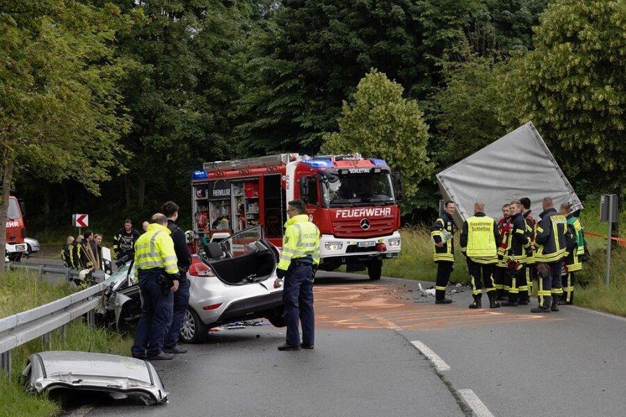 23-Jährige bei Unfall auf B 101 schwer verletzt