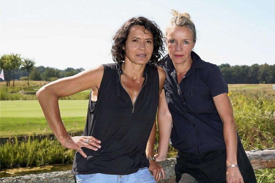Ulrike Folkerts mit ihrer Lebensgefährtin Katharina Schnitzler, die Künstlerin ist. Folkerts Interesse an Kunst begann vor Jahrzehnten mit einem Bild von Alexej von Jawlensky.