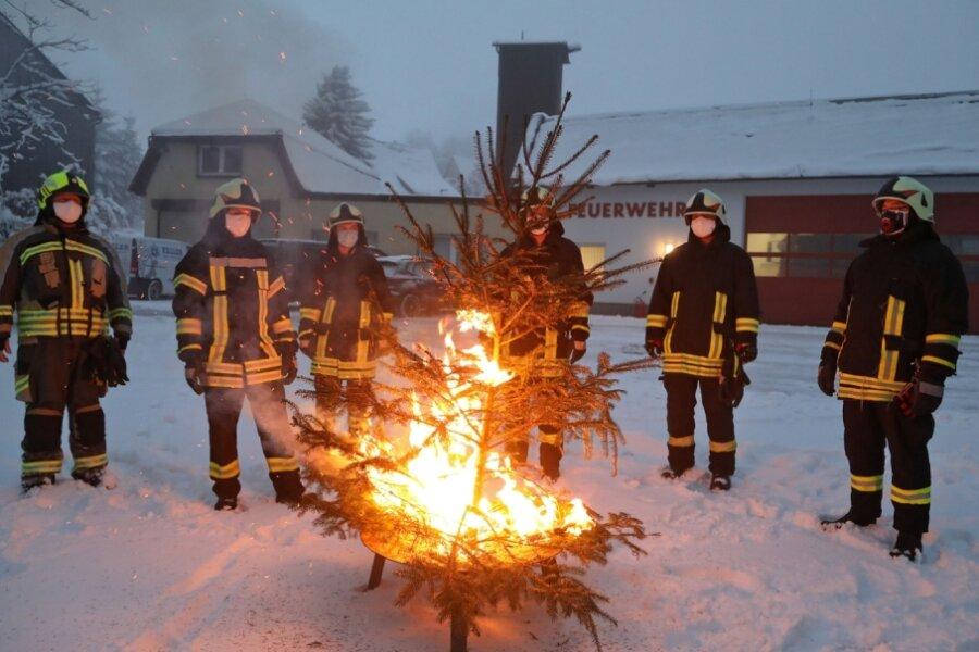 Feuerwehr sammelt Geld für guten Zweck