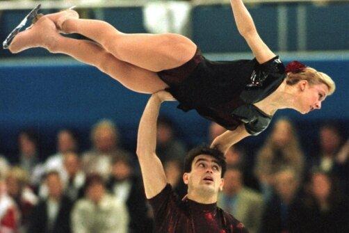 Mandy Wötzel und Ingo Steuer lagen bei der WM 1997 schon nach dem Kurzprogramm in Führung.