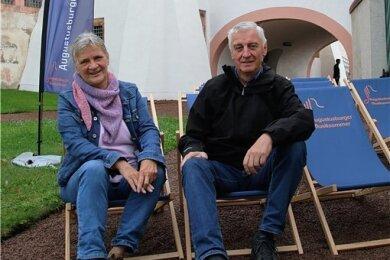 Kistina und Dieter Härtel sind zum wiederholten Male aus Dittersdorf zu den Turmkonzerten nach Augustusburg gekommen - und begeistert. Ihre Freude war ansteckend: Sie haben wiederholt Freunde überzeugt mitzukommen.