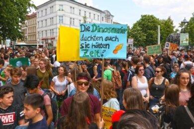Mehr als 700 Teilnehmer demonstrierten im Mai in Zwickau für den Klimaschutz.