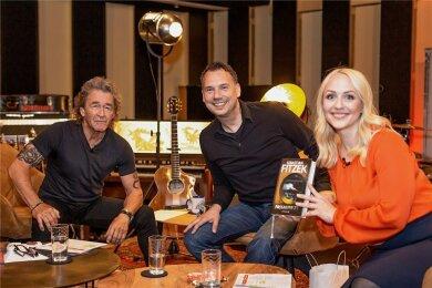 Peter Maffay, Sebastian Fitzek und Henriette Fee in den Red Rooster Studios im bayerischen Tutzing.
