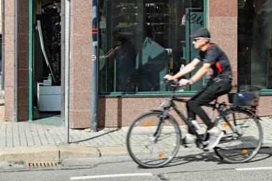 Radfahrer haben es in Werdau nicht immer einfach.