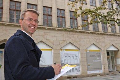 """Steffen Bockisch hat das Projekt """"Umgestaltung des ehemaligen Schocken-Kaufhaus"""" maßgeblich mit entwickelt."""