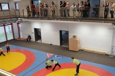 13,7 mal 19,5 Meter misst die Halle im Zwischenbau, die sowohl für Sport- als auch für Kulturveranstaltungen nutzbar ist.