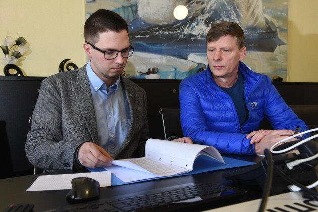 Norman Löster (links) und Uwe Bauch haben ihre Ämter als Aufsichtsräte niedergelegt. Auch Lutz Wienhold (nicht im Bild) trat zurück.