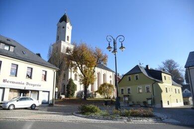 Der Marktplatz in Bad Brambach.