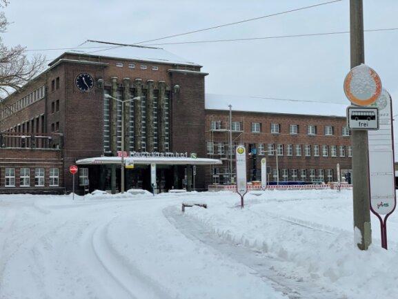 Der Zwickauer Hauptbahnhof am Montagvormittag.