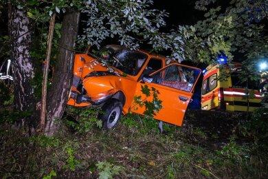 Ein betrunkener 26-jähriger Škoda-Fahrer ist bei einem Unfall am frühen Samstagmorgen schwer verletzt worden.
