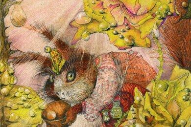 Satte Farben und Liebe zum Detail: Die Illustration entstand für eine 1996 aufgelegte Ausgabe von Wilhelm Hauffs Zwerg Nase.
