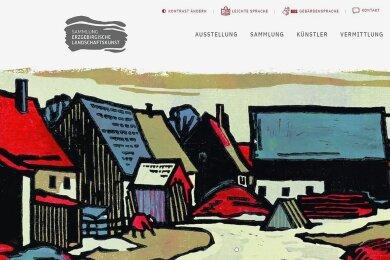 """""""Vorfrühling in Satzung"""" nannte Maler Rudolf Manuwald seinen Holzschnitt. Das Werk von 1958 ist auf der Startseite der Homepage platziert."""