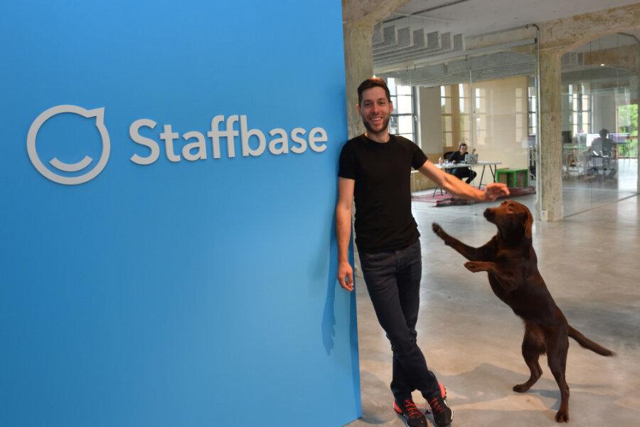 Dr. Martin Böhringer, einer von drei Geschäftsführern des IT-Unternehmens Staffbase GmbH in Chemnitz.