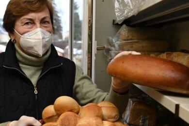 Gisela Neumerkel ist seit zwei Jahren ehrenamtlich bei der Stollberger Tafel tätig.