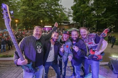 Im vergangenen Sommer traten Engel in Zivil beim Stadtparkfest in Limbach-Oberfrohna auf.