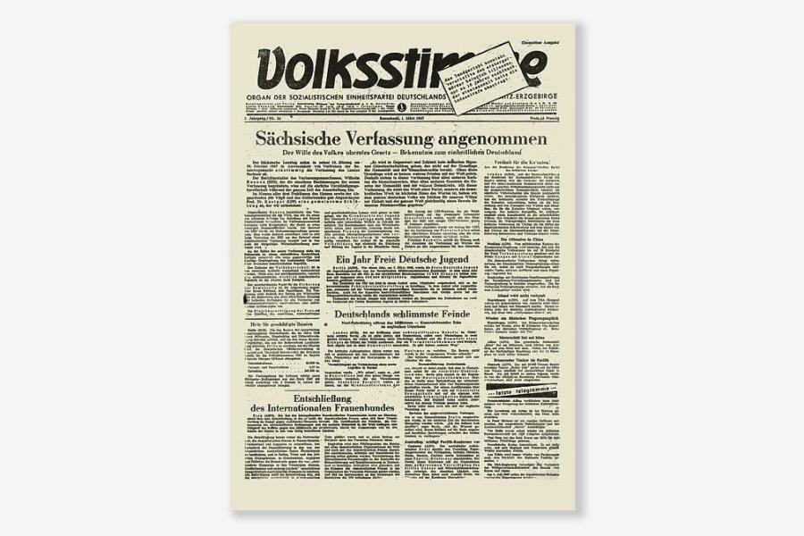 1947: Die dritte Verfassung für Sachsen