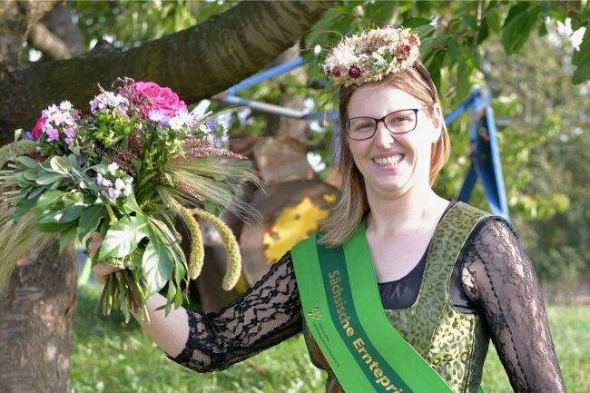 Gestatten: Sandra Zschommler aus Großschirma ist Sachsens neue Ernteprinzessin.