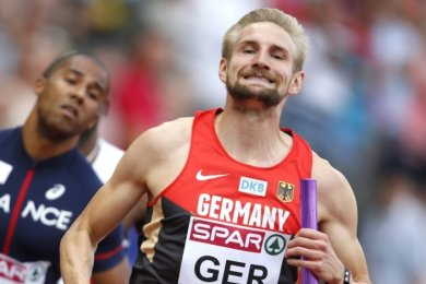 Lucas Jakubczyk war seit 2012 regelmäßig bei den Großereignissen am Start. Das Foto zeigt ihn als Staffelläufer bei der EM 2014.
