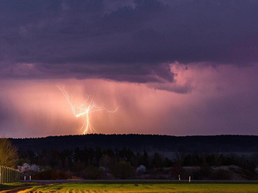 Unwetterwarnung für Teile Sachsens