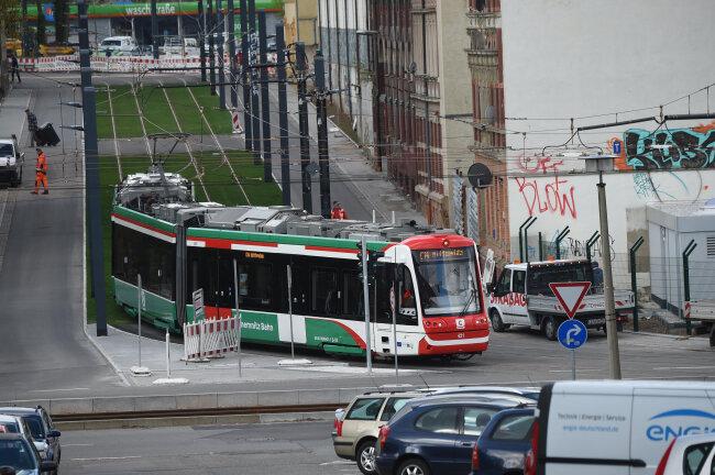 Citybahn Testet Neue Tramtrasse Freie Presse Chemnitz