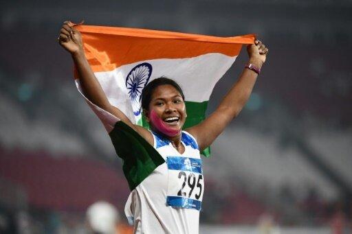 Strahlende Siegerin bei den Asienspielen: Swapna Barman