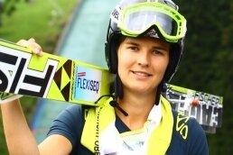 Ulrike Gräßler im Sommer bei den Continentalcup-Wettbewerben am Fichtelberg.