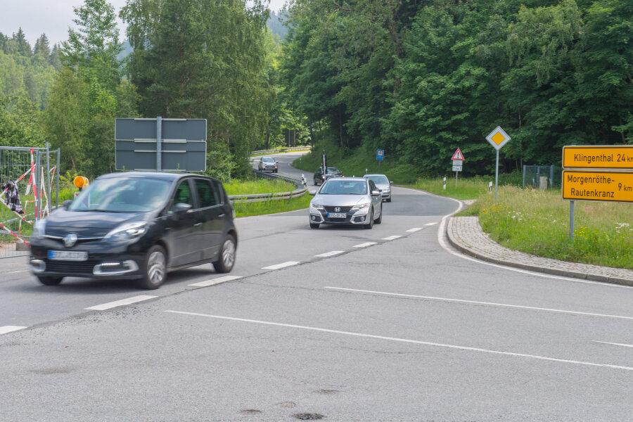 20 Kilometer Umleitung für kleine Baustelle bei Schönheide