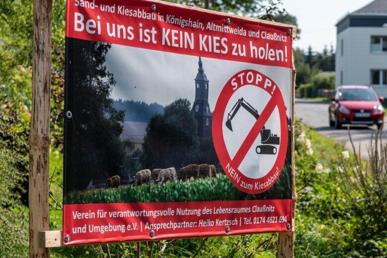 In Königshain kämpfen Einwohner gegen den geplanten Kies- und Sandabbau am Ortsrand.