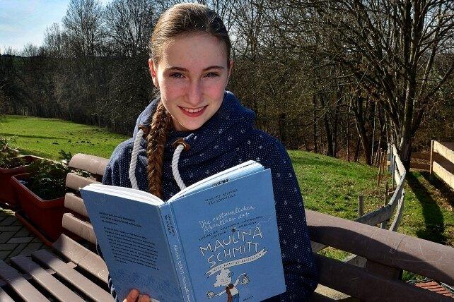 Lena Beuermann aus Goßberg ist die beste Vorleserin im Landkreis.