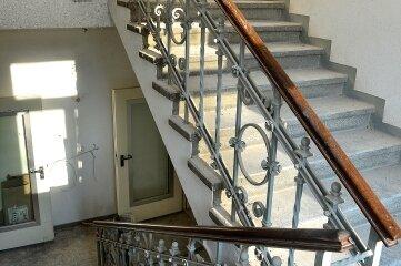 Auch das Treppenhaus steht unter Denkmalschutz und wird erhalten.