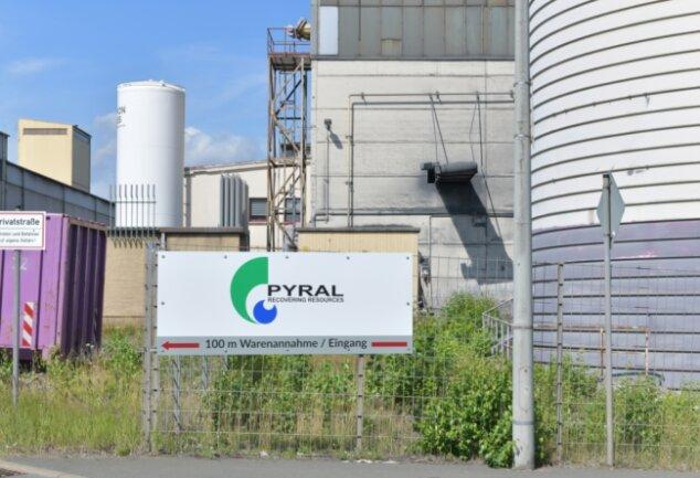 Die Firma Pyral im Industriegebiet Saxonia an der Frauensteiner Straße in Freiberg.